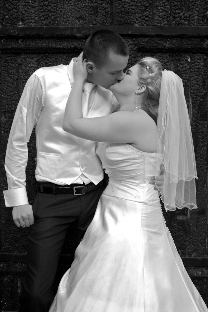 Poolsel bruiloft fotoshoot