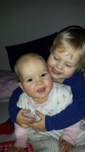 Nina 4 jaar hoera grote zus