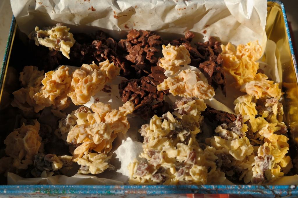 no bake chocolade cornflake koekjes