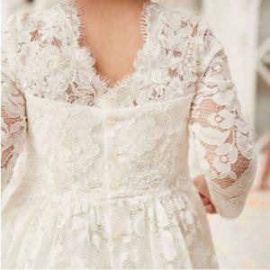 I love lace - bruidsmeisjesjurk wit kant3