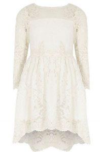 I love lace - witte kanten bruidsmeisjesjurk river island2