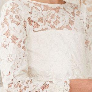 I love lace - witte kanten bruidsmeisjesjurk river island3
