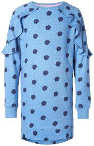 Kinderkleding jurk ottowa blauw print
