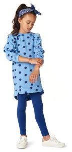 Kinderkleding jurk ottowa blauw print2