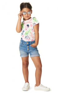 Tropical prints kinderkleding zomer 2018 shorts en shirt