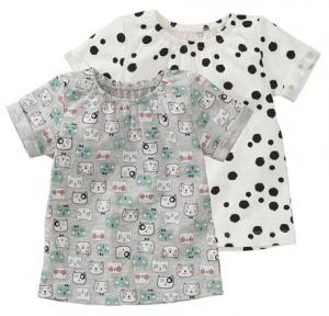 babykleding hema shirtjes patroon dierenprint