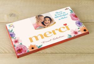 Gepersonaliseerde moederdag cadeaus Greetz Merci Chocolade