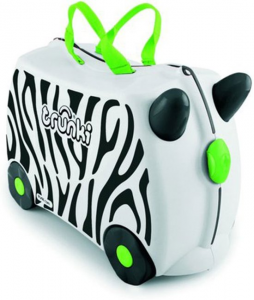 Trunki de ride-on zebra kinderkoffer - sara drie jaar - cadeaus