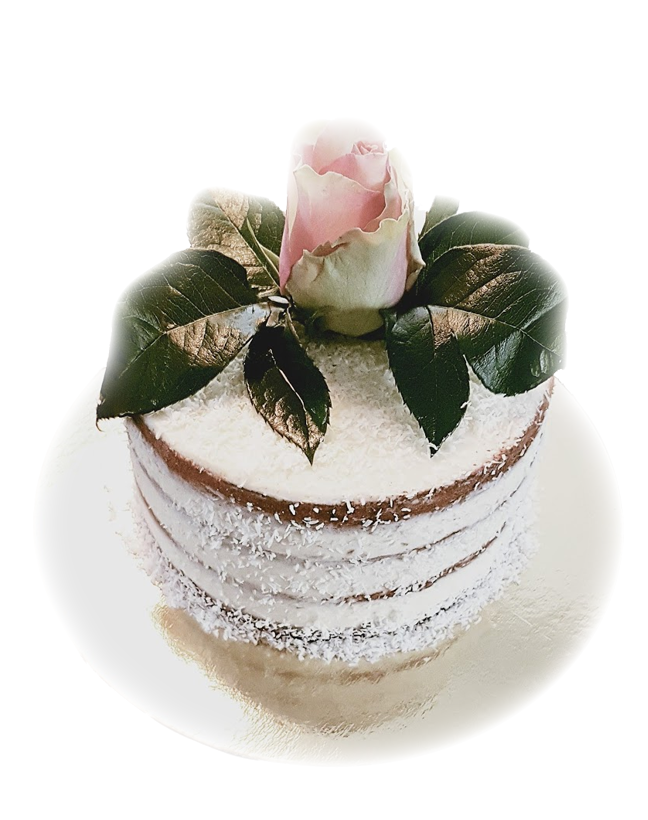 Semi naked cake echte bloem taart