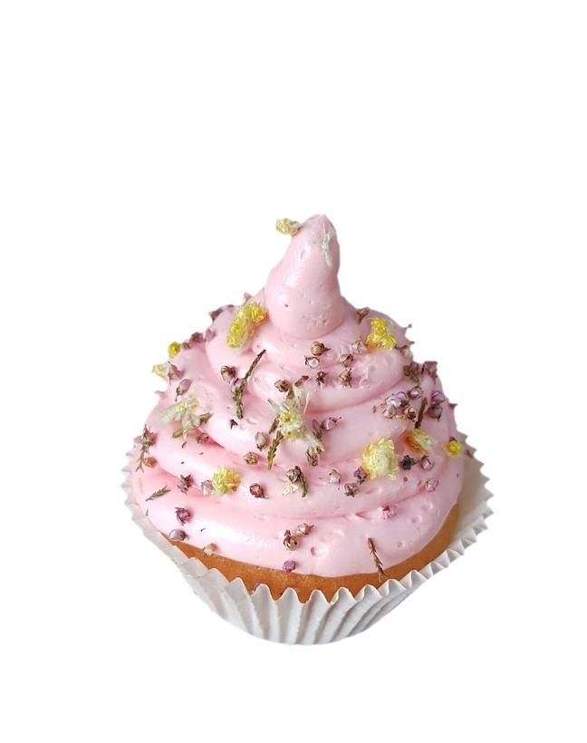 cupcake gedroogde bloemen botercreme floral