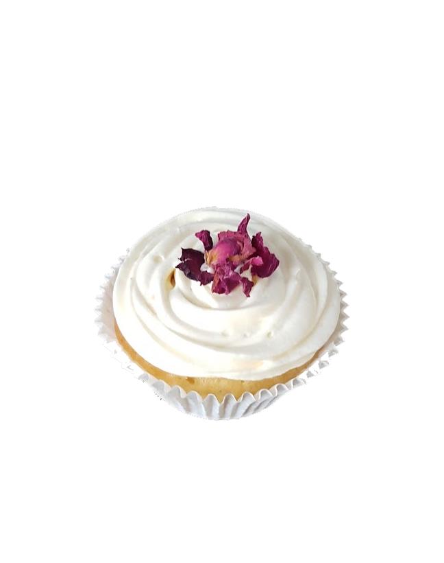 cupcake gedroogde bloemen botercreme roos