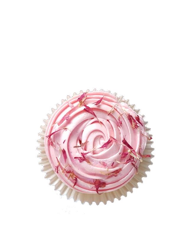 cupcake gedroogde bloemen botercreme roze2