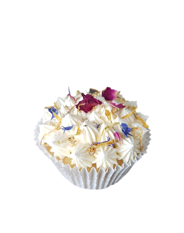 cupcake gedroogde bloemen botercreme1