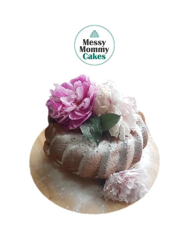 Cake tulband poeder delicate flower bloemen